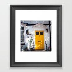 The Perfect Yellow Door Framed Art Print