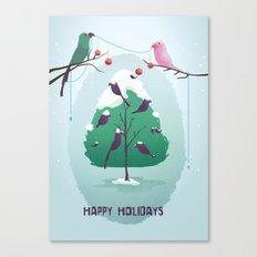 Happy Holidays - A Parrots Christmas  Canvas Print