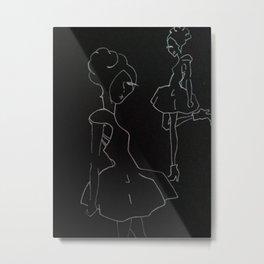 black model Metal Print