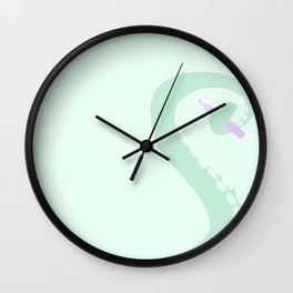 Doodly Tentacle Wall Clock