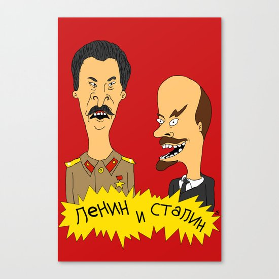 Lenin and Stalin Canvas Print