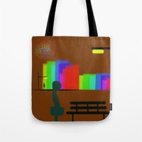 30 rock Tote Bags featuring cool sketch 30 by Cool-Sketch-Len