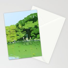 Green pond Stationery Cards