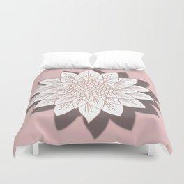Rose Gold Sunflower Duvet Cover