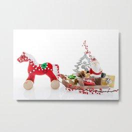 Santa Claus decor Metal Print