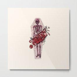Rose Coffin Metal Print