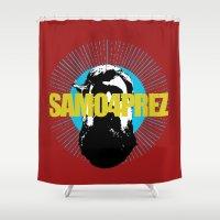 shameless Shower Curtains featuring Logo by SAMO4PREZ