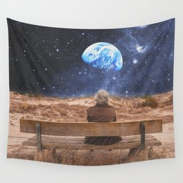 PLANET EARTH, THE UNIVERSE AND I Wall Tapestry