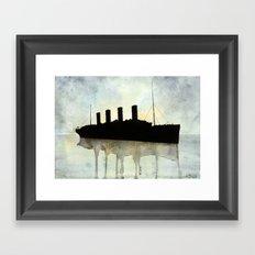 Titanic watercolour Framed Art Print