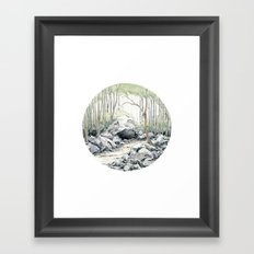 Crop circle 01 Framed Art Print