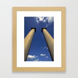 Columns Under Sky Framed Art Print