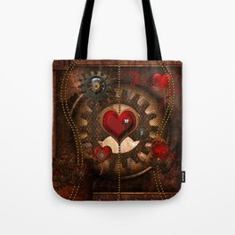 Steampunk, awesome steampunk heart Tote Bag