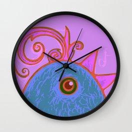 Blue cock Wall Clock