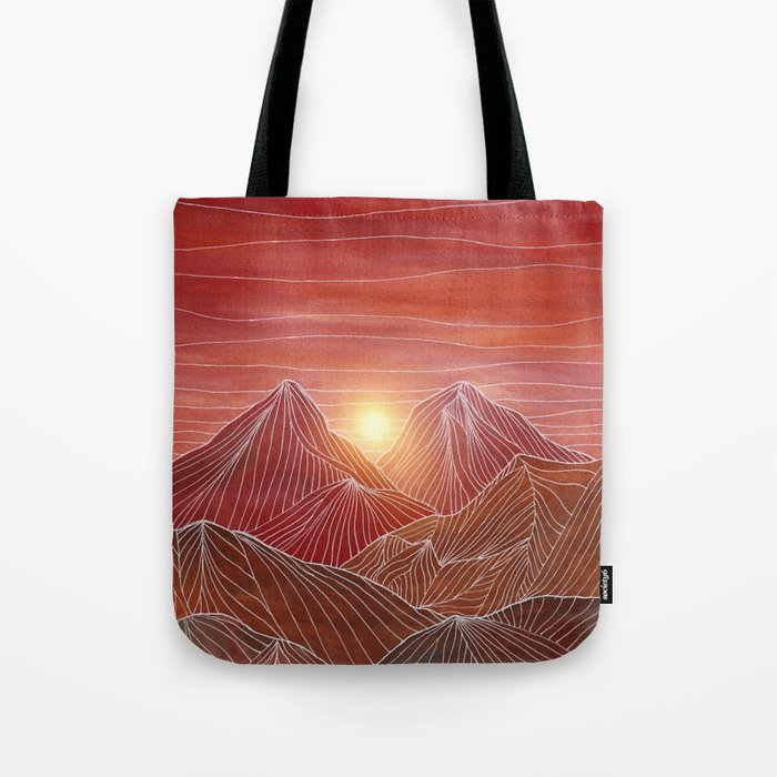 Lines in the mountains VI Tote Bag