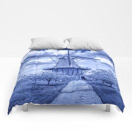 Delft Blue Dutch Windmill Comforters
