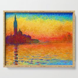 San Giorgio Maggiore at Dusk - Claude Monet 1912 Serving Tray