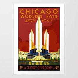1933 Chicago World's Fair Art Print