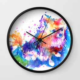 Pop Art Pomeranian Wall Clock