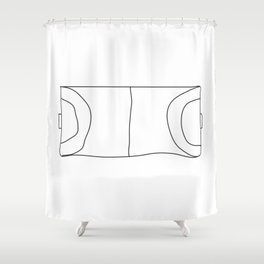 Handball in lines Shower Curtain