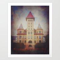 Castle in the Sky (19th Century Kirkbride Mental Asylum)  Art Print