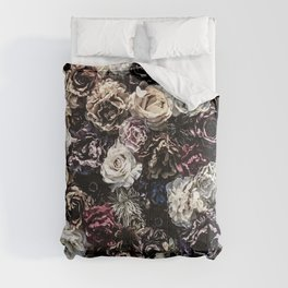 Flower Wall // Desaturated Vintage Floral Accent Background Jaw Dropping Decoration Comforters