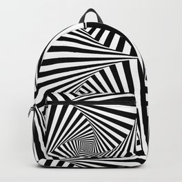 Black And White Retro Optical Illusion Backpack