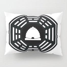 Dharma - Beehive Station (Black) Pillow Sham