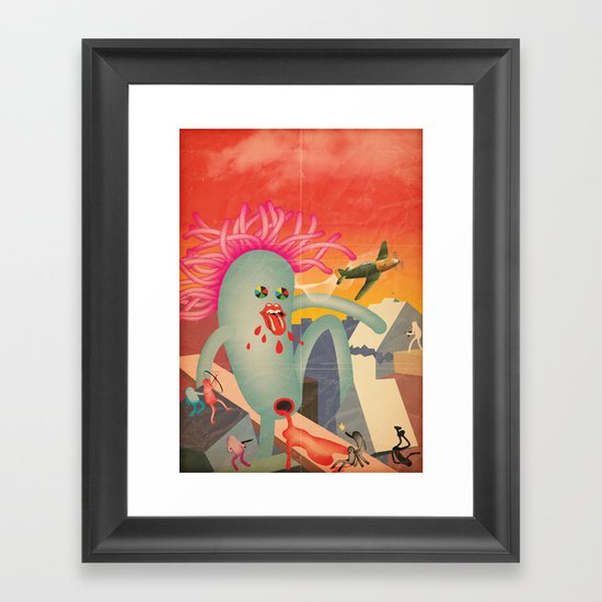DesTRoYYYYYYYYYY Framed Art Print