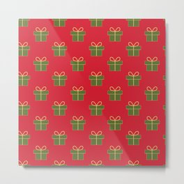 Christmas gifts - red and green Metal Print