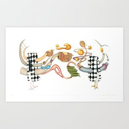 Sosholizayshin Print Art Print