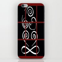 tiki iPhone & iPod Skins featuring Tiki by Alison McLean
