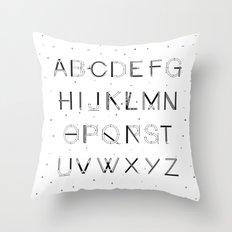 Craft Font Throw Pillow