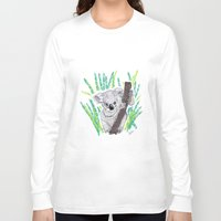 koala Long Sleeve T-shirts featuring KOALA by Andrea Lacuesta Art