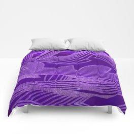 Symphony of Purple Sky Comforters