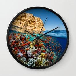 Island Sea Underwater Wall Clock