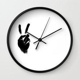 Peace — portrait and white Wall Clock