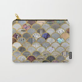 Textured Moons Carry-All Pouch