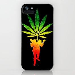 Rasta Human Weed iPhone Case