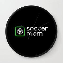 Soccer Mom (Green) Wall Clock