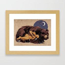 I love my Bear Framed Art Print
