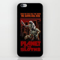 sloths iPhone & iPod Skins featuring Planet Of The Sloths by Chris Moet