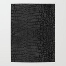 Black Crocodile Leather Print Poster
