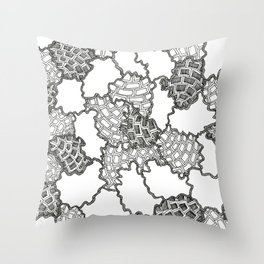 FRACTAL PATCHWORK SPACE SHRAPNEL! Throw Pillow