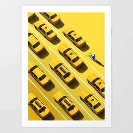 New York Cabs Art Print