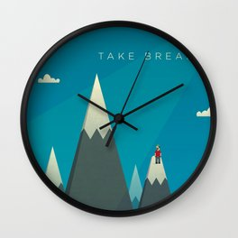 Take breaks. A PSA for stressed creatives. Wall Clock