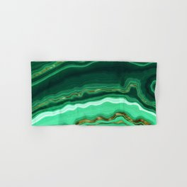 Gold And Malachite Marble Hand & Bath Towel