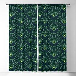 Vintage Art Deco pattern- Green dot dot dot Blackout Curtain