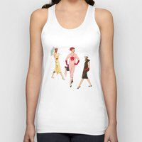 givenchy Tank Tops featuring 1950's Girls by Art of Tom Tierney
