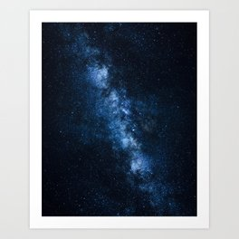 Cobalt Milky Way Art Print