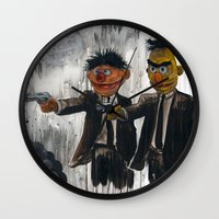 mask Wall Clocks featuring Pulp Street by Beery Method